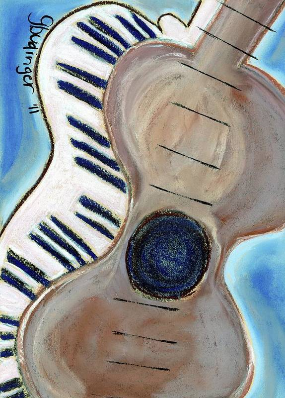 Guitar Art Print featuring the pastel My Theory by Gail Budinger