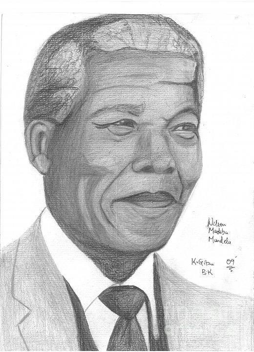 Nelson Mandela Art Print featuring the photograph Nelson Mandela by Chris Gitau