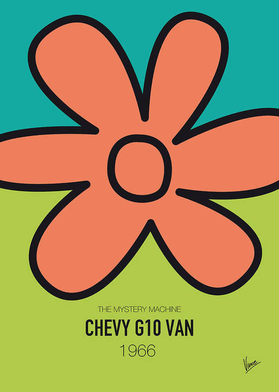 Chevy Art Print featuring the digital art No020 My Scooby Doo Minimal Movie Car Poster by Chungkong Art
