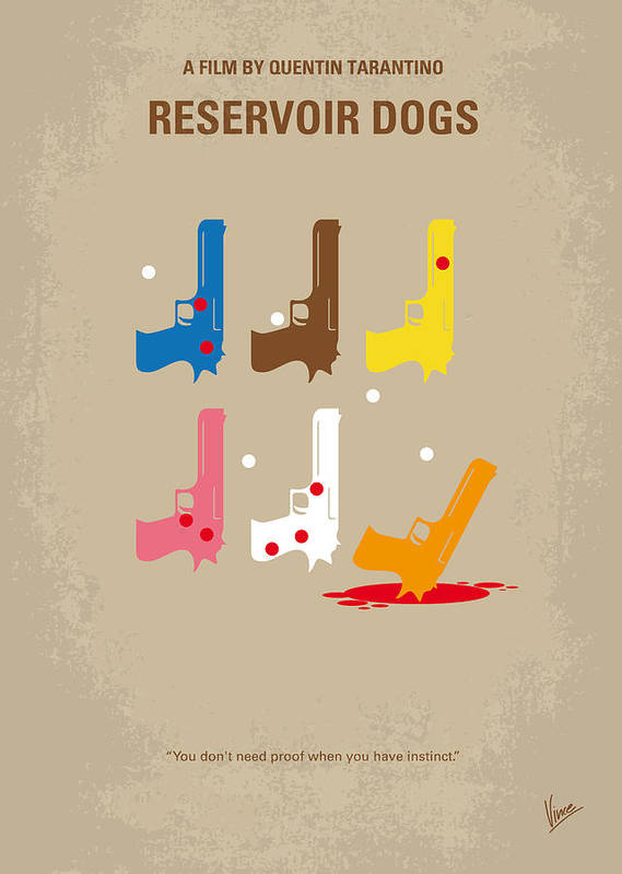 Reservoir Print featuring the digital art No069 My Reservoir Dogs Minimal Movie Poster by Chungkong Art