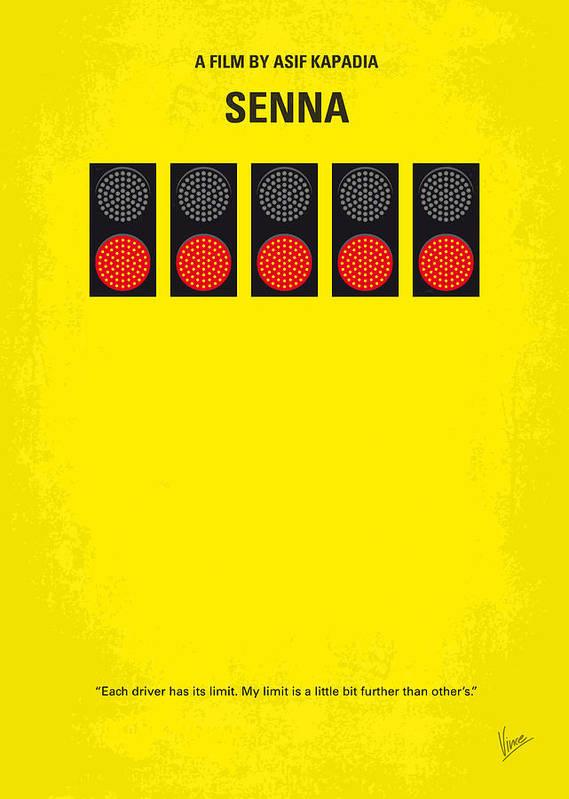 Senna Print featuring the digital art No075 My Senna Minimal Movie Poster by Chungkong Art