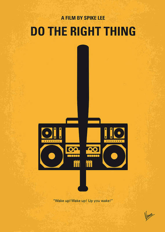 Do The Right Thing Art Print featuring the digital art No179 My Do The Right Thing Minimal Movie Poster by Chungkong Art