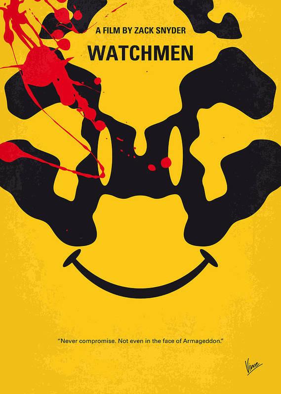 no599 my watchmen minimal movie poster art print by chungkong art
