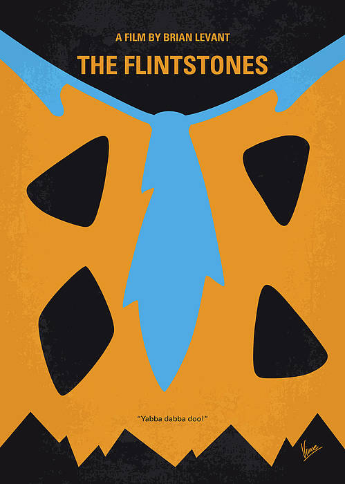 Flintstones Art Print featuring the digital art No669 My The Flintstones Minimal Movie Poster by Chungkong Art