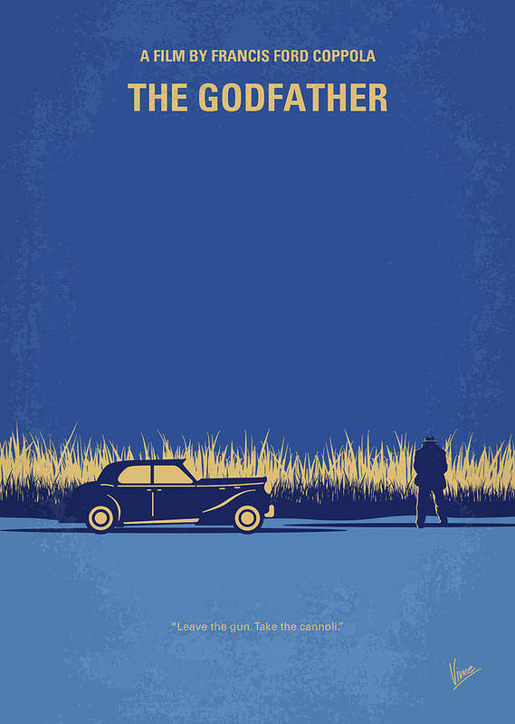 The Art Print featuring the digital art No686-1 My Godfather I Minimal Movie Poster by Chungkong Art
