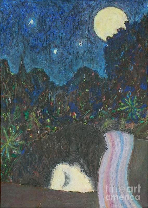 Sleep Art Print featuring the painting Norah Sleeping by Andy Mercer
