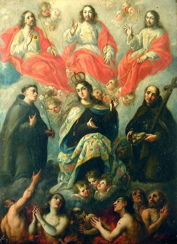 Religious Art Print featuring the painting Nuestra Senora Del Carmen by Unknown