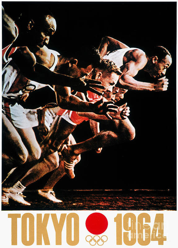 1964 Art Print featuring the photograph Olympic Games, 1964 by Granger