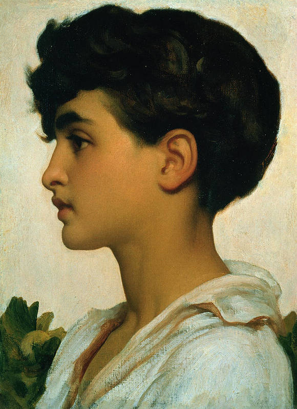 Paolo Art Print featuring the painting Paolo by Frederic Leighton