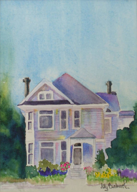 Victorian Art Print featuring the painting Park Blvd Victorian by Ally Benbrook