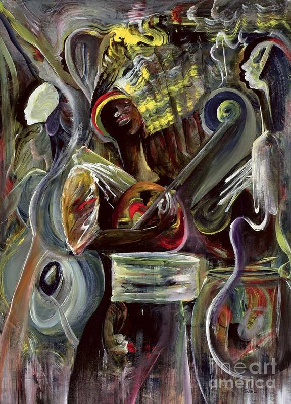 African-american Art Print featuring the painting Pearl Jam by Ikahl Beckford