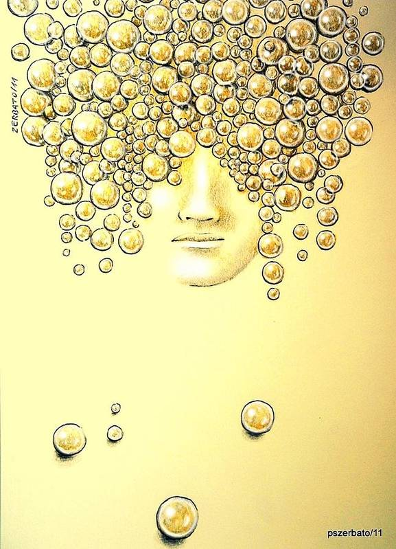 Pearls Of Wisdom Art Print featuring the digital art Pearls Of Wisdom by Paulo Zerbato
