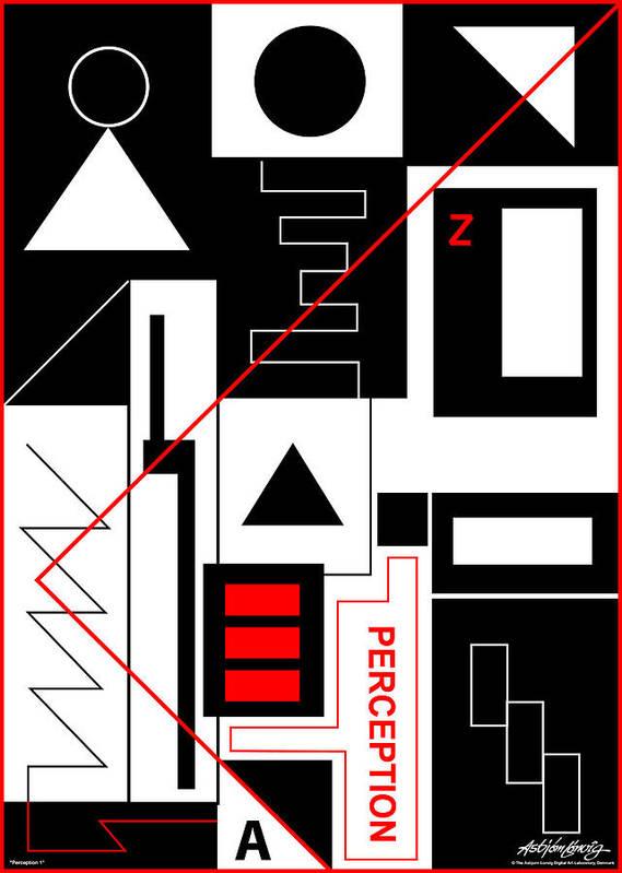 Perception Art Print featuring the digital art Perception I - Text by Asbjorn Lonvig