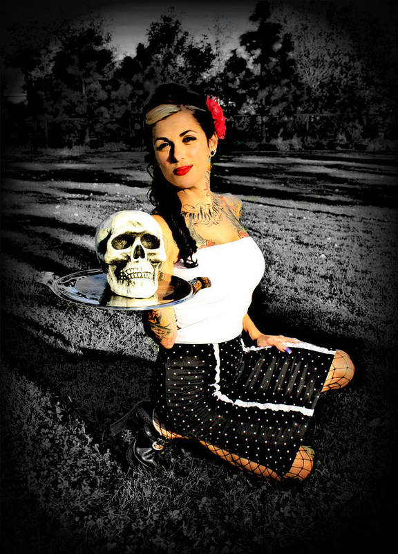 Skulls Art Print featuring the photograph Pinup And Percy by Megan Hurley