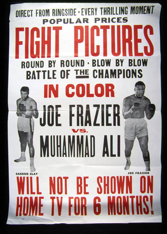 Ali Art Print featuring the photograph Poster For The First Joe Frazier Vs by Everett