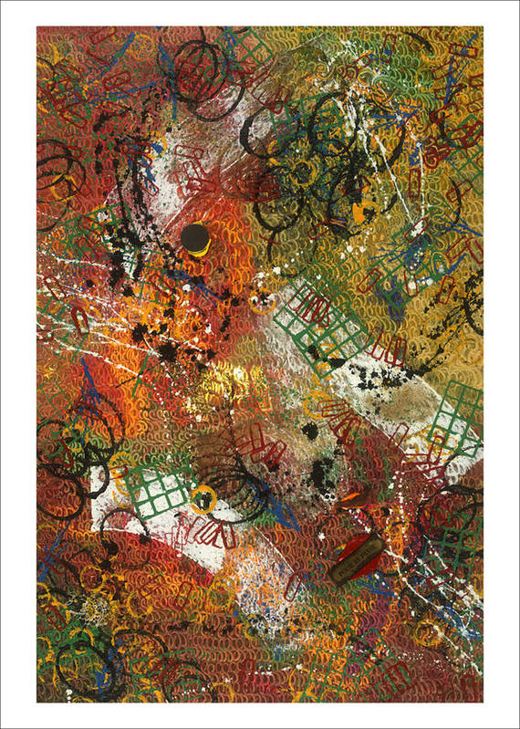 Abstract Art Print featuring the painting Pour La Pluie by Dominique Boutaud