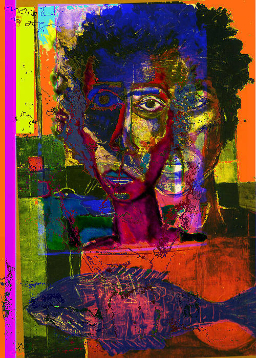 Colors Art Print featuring the painting Prophet II by Noredin Morgan