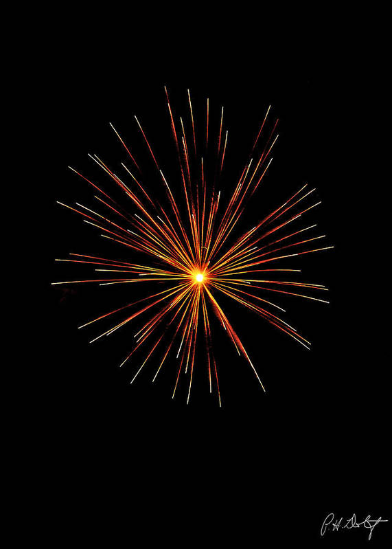 July 4th Art Print featuring the photograph Red Burst by Phill Doherty