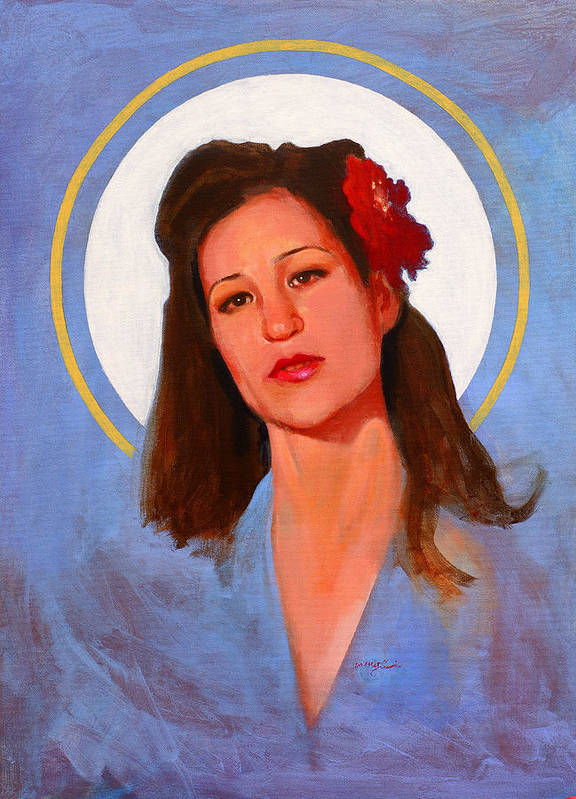 Portrait Art Print featuring the painting Renee 1940 by John Tartaglione