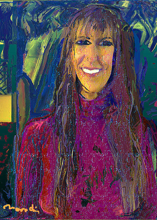 Portrait Art Print featuring the painting Rios by Noredin Morgan