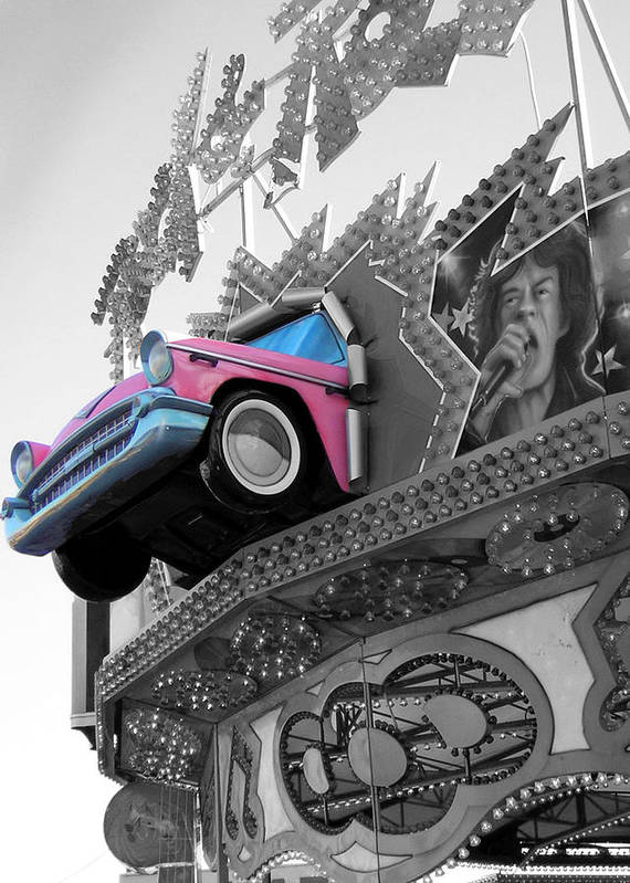 Amusement Park Art Print featuring the photograph Rock N Roll by Heather Weikel