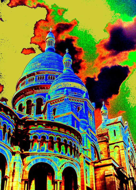 Architecture Art Print featuring the mixed media Sacre-coeur No. 01 by Ramon Labusch