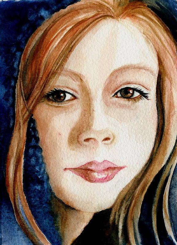 Portrait Commission Art Print featuring the painting Shel by L Lauter