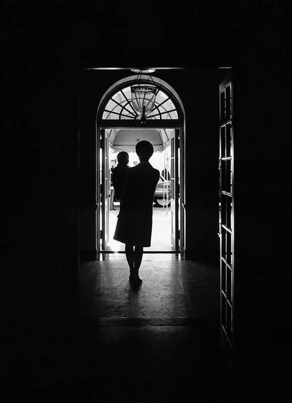 History Art Print featuring the photograph Silhouette Portrait Of Jacqueline by Everett