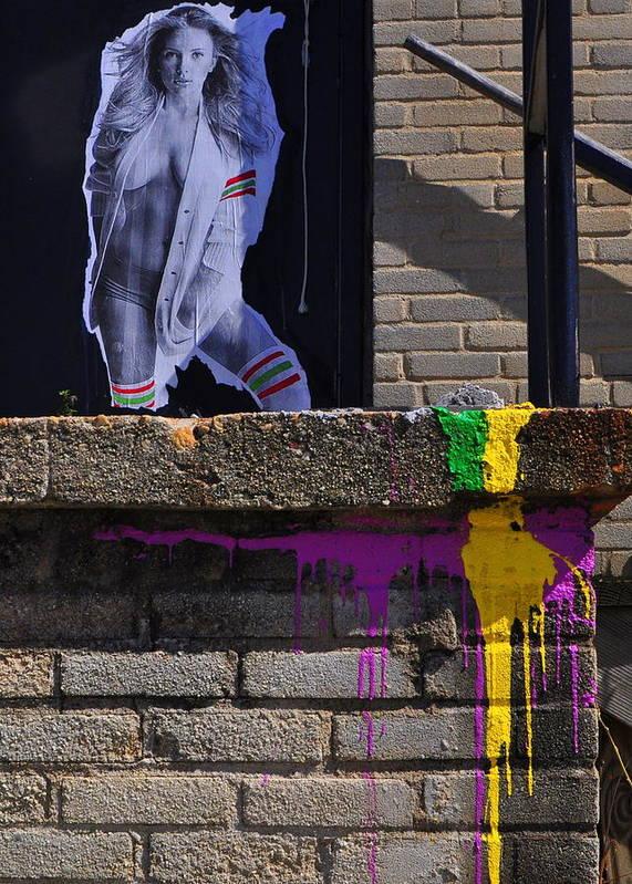 Graffiti Art Print featuring the photograph Sj's Wake by Jodi Meier