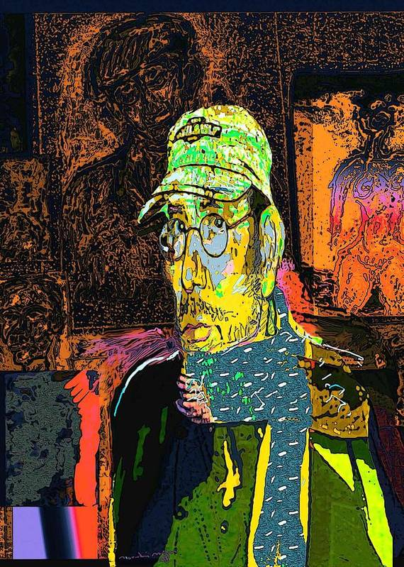 Self Portrait Art Print featuring the painting Sp 2006 by Noredin Morgan