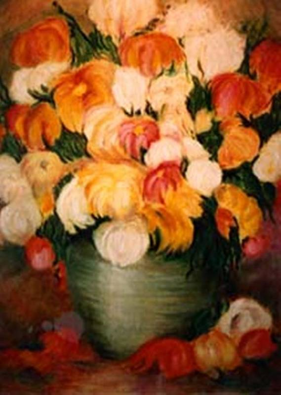 Flowers Art Print featuring the painting Spring Bouquet by Jordana Sands