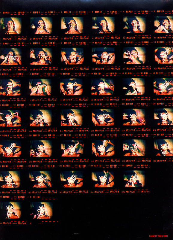 Contact Sheet Art Print featuring the photograph Super 8 by Gerard Yates