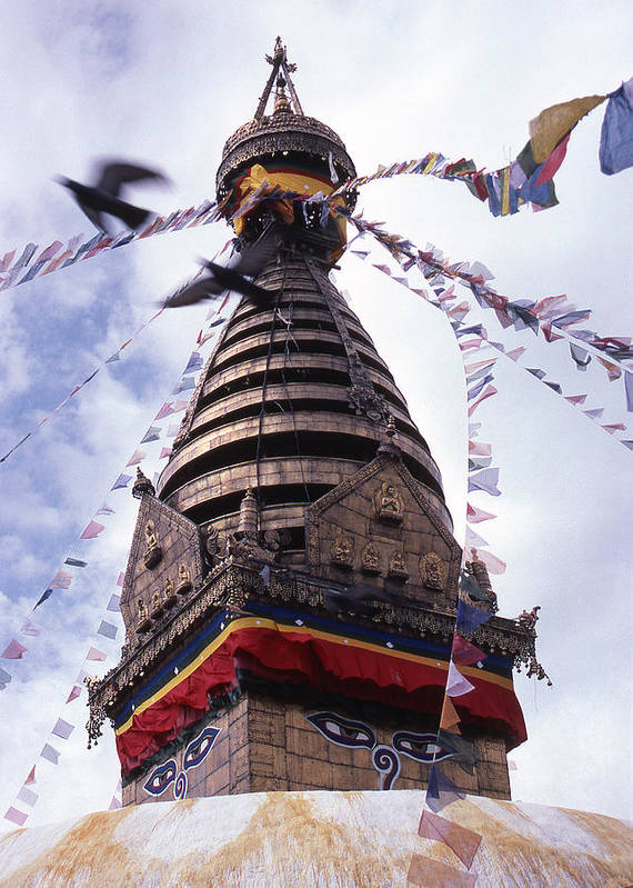 Swayambhunath Art Print featuring the photograph Swayambhunath by Patrick Klauss