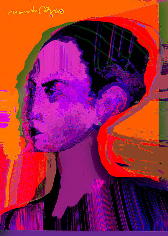 Portrait Art Print featuring the painting Sweet Anticipation by Noredin Morgan
