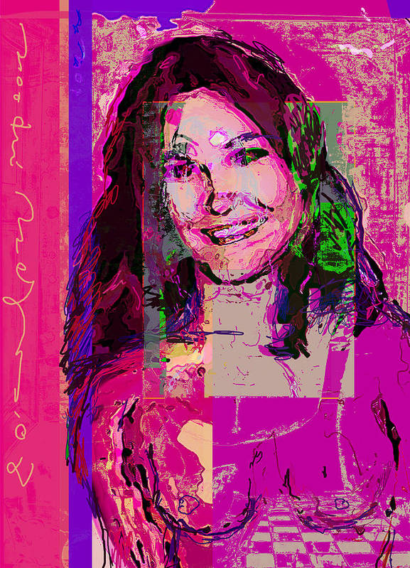 Portrait Art Print featuring the painting Sweet Nat by Noredin Morgan