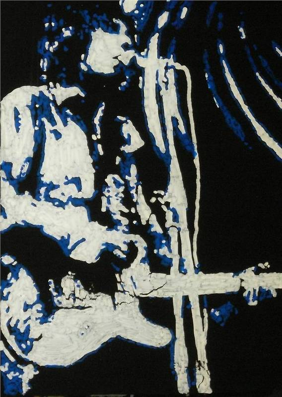 Syd Barret Art Print featuring the painting Syd Barret by Grant Van Driest