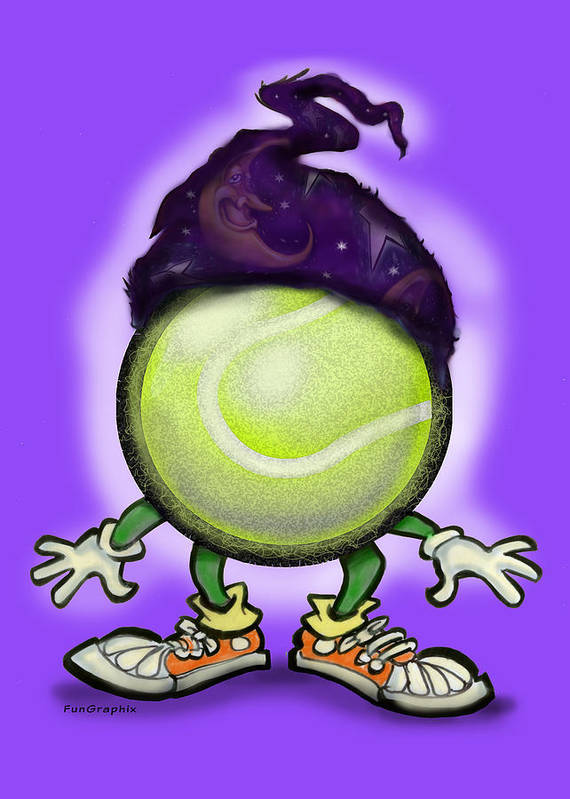 Tennis Art Print featuring the digital art Tennis Wiz by Kevin Middleton