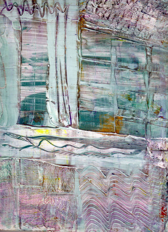 Abstract Art Print featuring the painting The Corner Window by Wayne Potrafka