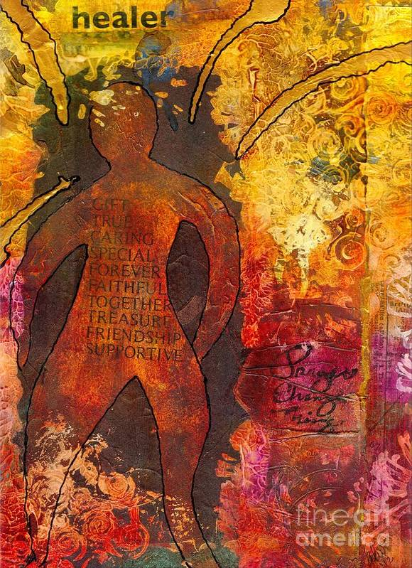 Caregiver Art Print featuring the mixed media The Medicine Man by Angela L Walker