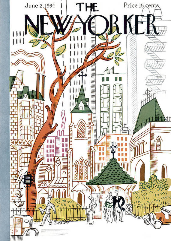 City Art Print featuring the photograph The New Yorker Cover - June 2nd, 1934 by Harry Brown