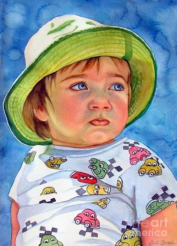 Portrait Art Print featuring the painting The Pout by Gail Zavala