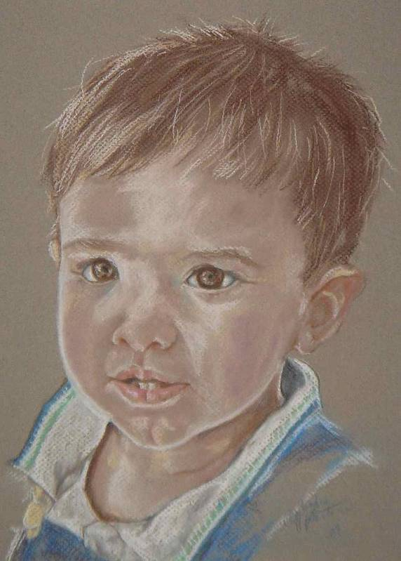 Child Art Print featuring the painting Thomas by Sandra Valentini