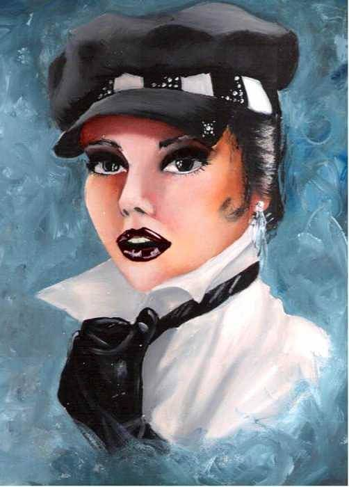 Portrait Art Print featuring the painting Veronica by Scarlett Royal