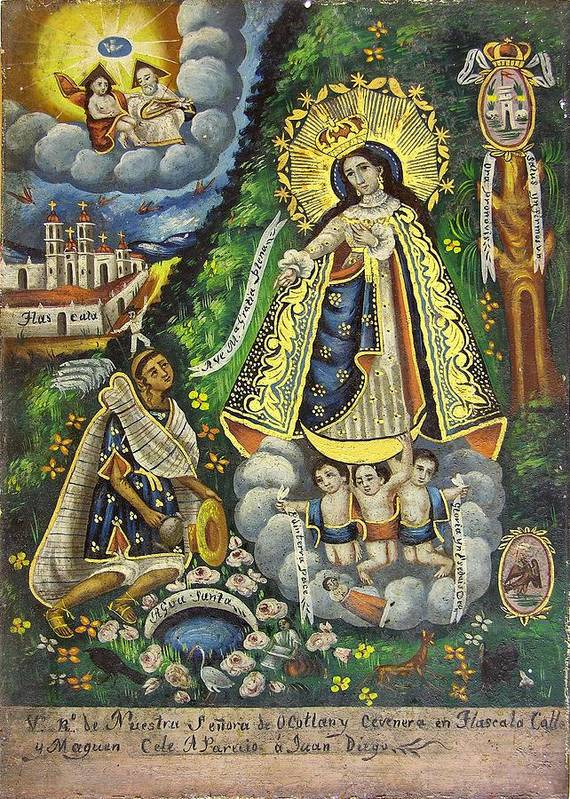 Religion Art Print featuring the painting Virgen De Ocotlan by Unknown