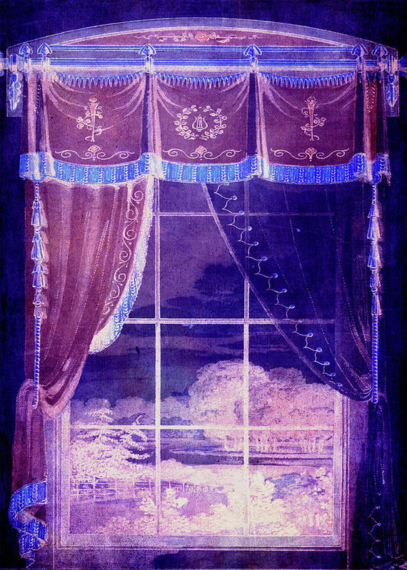 Window Art Print featuring the digital art Waiting For The Dawn by Sarah Vernon