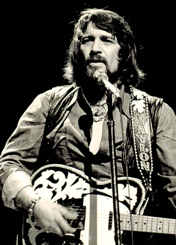 Beard Art Print featuring the photograph Waylon Jennings In Concert, C. 1976 by Everett