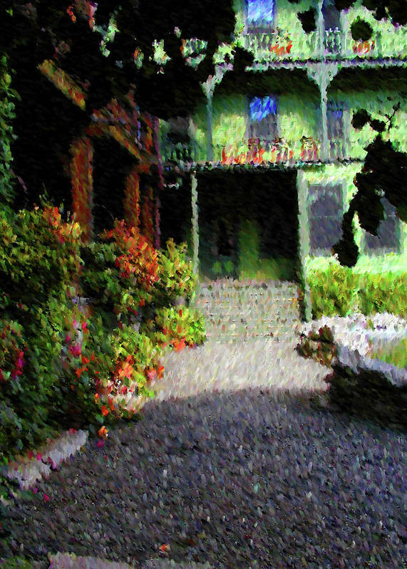 Landscape Art Print featuring the mixed media Welcome Home by John-Marc Grob