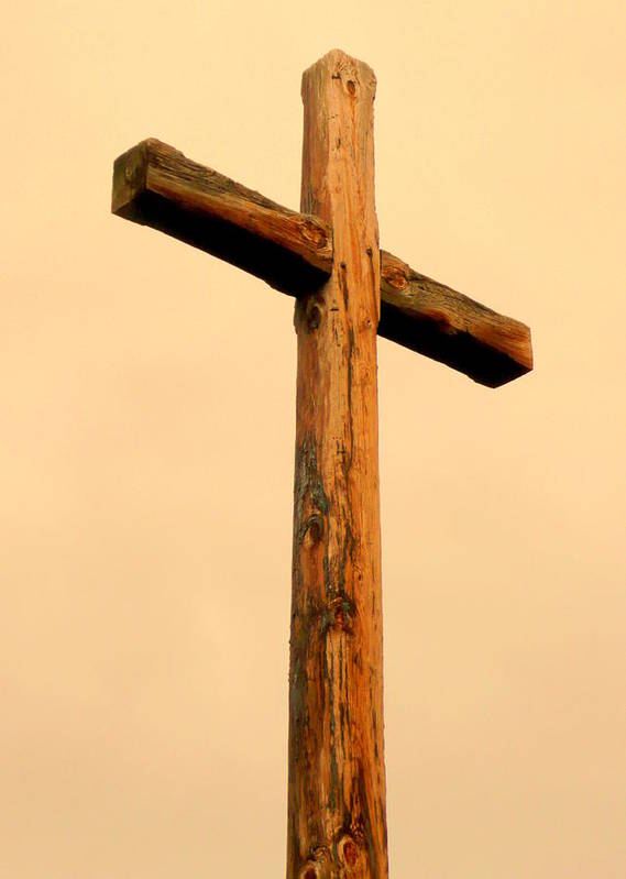 Cindy Print featuring the photograph Wooden Cross by Cindy Wright