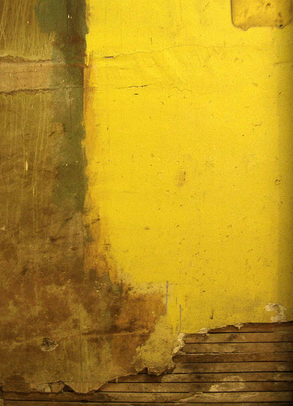 Yellow Art Print featuring the photograph Yellow Wall by Tim Nyberg