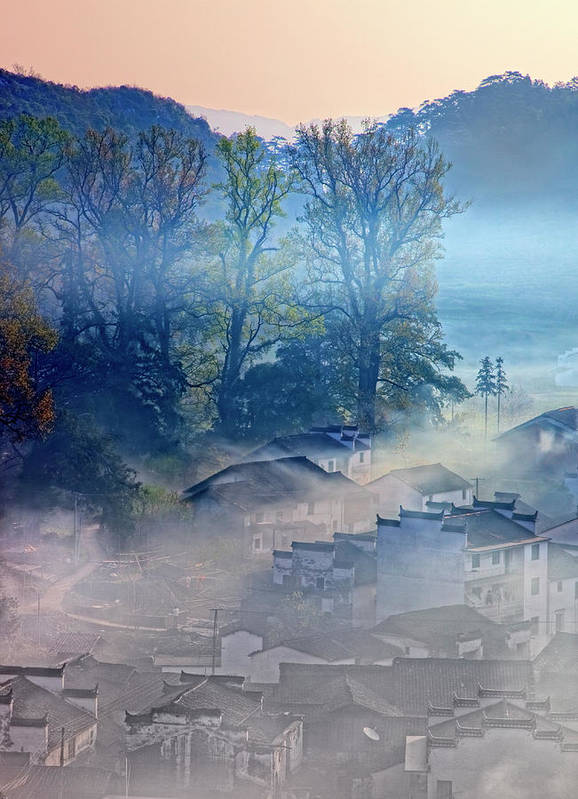 ad55a0556 Chinese Culture Art Print featuring the photograph Morning At The Village  Of Shicheng by William Yu